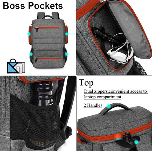 Brinch Laptop Backpack Pockets