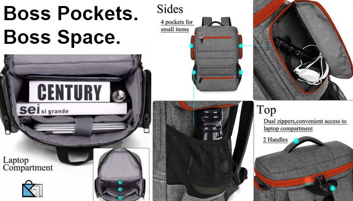 Brinch Laptop Backpack Bag Laptop Pockets