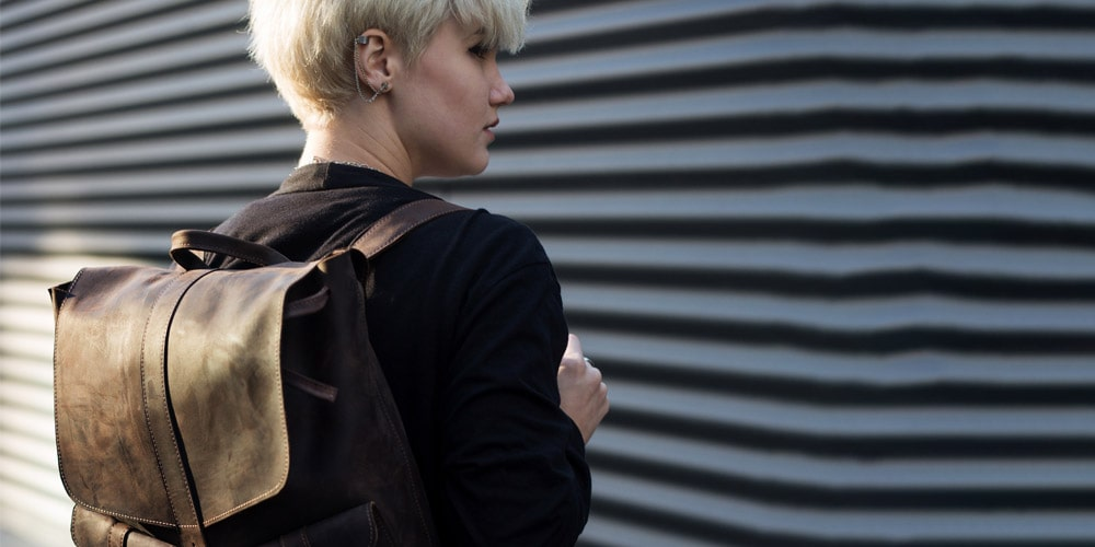 Slim Laptop Bag on Woman
